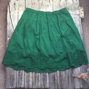 Old Navy Lace Kelly Green Skirt