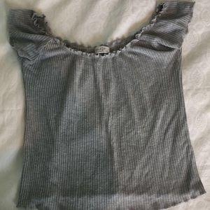 gray off shoulder✨