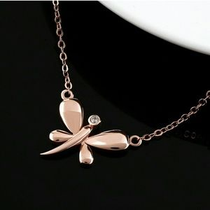 Jewelry - NEW Rose Gold Dragonfly Necklace