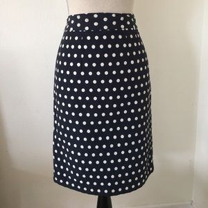 Cute embroidered dot pencil skirt
