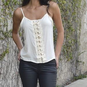 Lace Up Cami Blouse