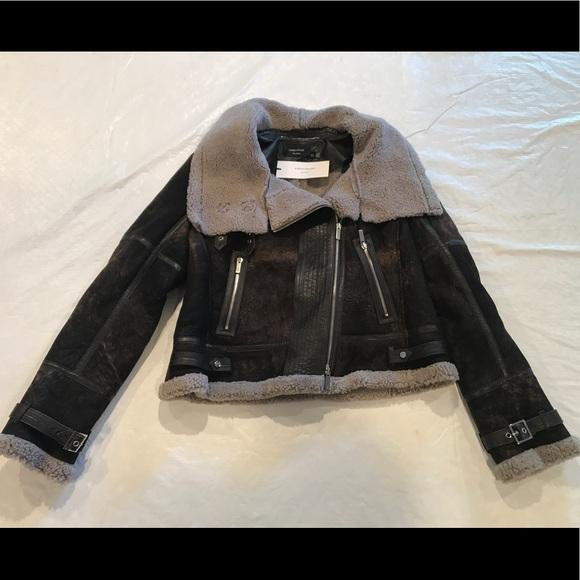 b5cc118faaa Karen Millen Jackets & Coats | Ateliershearling Biker Coat Us 12 ...