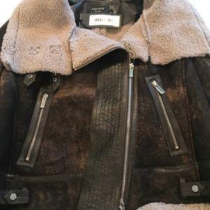 66f811f478 Karen Millen Jackets & Coats - KAREN MILLEN **Atelier**Shearling Biker Coat