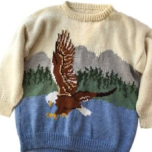 handknit vintage EAGLE lake sweater