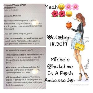 Other - @hatchme Michele is A Posh Ambassador!!😀😀🌸🌺🍁