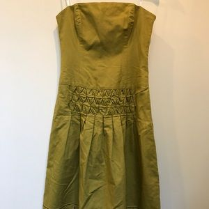 Laundry chartreuse strapless dress size 6