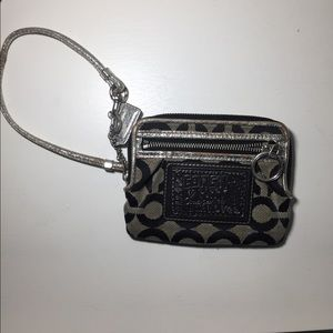 Coach black and silver  poppy wallet