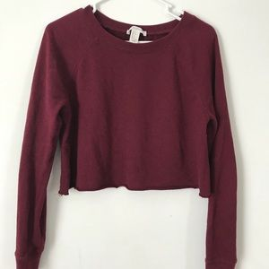 Marroon cropped sweater