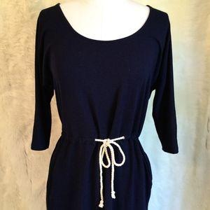 Gap Navy Tie-Waist Dress