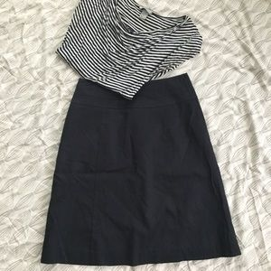 H&M Navy A-line skirt