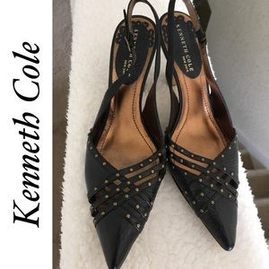 Kenneth Cole NY Studded Pointed Toe Heels