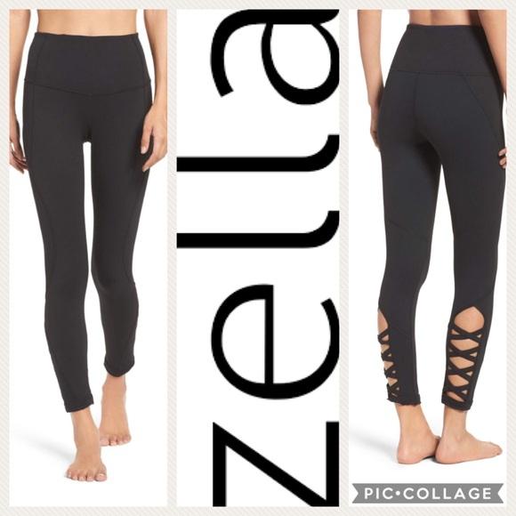 Zella High Waist Lattice Midi Legging  Black  M. M 59e8f7e913302a3d9b002054 e19499984aa