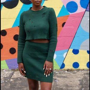 Marley green knit sweater set 🍀