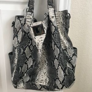Kenneth Cole Large faux snake print bag