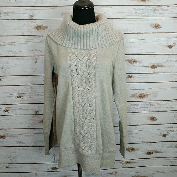 LOFT Sweaters - Ann Taylor Loft Cable Knit Cowl Neck Sweatshirt