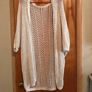 Long short sleeve cardigan