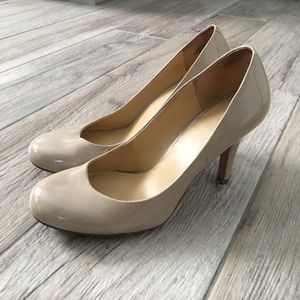 Tan/Nude Patent Leather High Heels