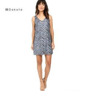 BB D a k o t a | chevron sequin shift dress