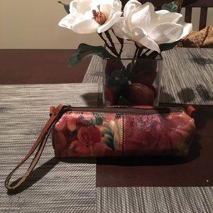 Patricia Nash floral cosmetic bag