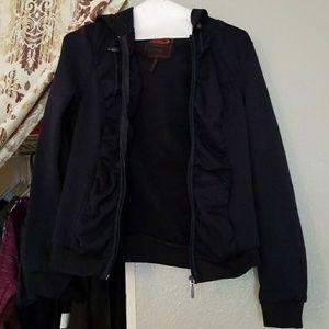 Navy blue zip up hoodie