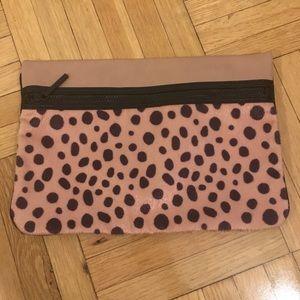 BCBG Generation Cheetah Print Zip Large Clutch