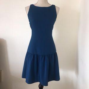 Drop waist sleeveless pleated dress