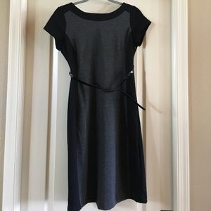 Used. Black and grey maternity dress