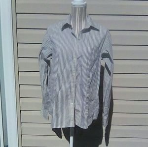 Marc by Marc Jacobs Blue & White Striped Shirt S S