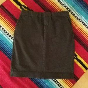 GAP brown pencil skirt