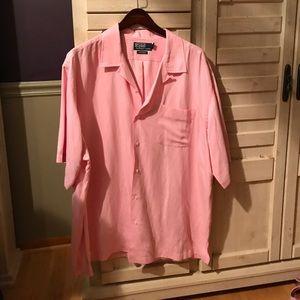Ralph Lauren Button Up shirt. Silk/linen blend.