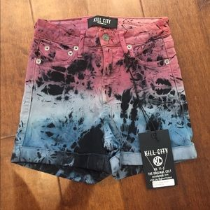 Kill City High Waist tie dye shorts size 23 XXS 00