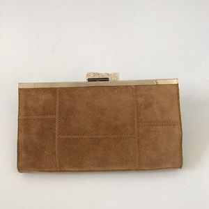 AUTHENTIC Banana Republic Patchwork Suede Clutch