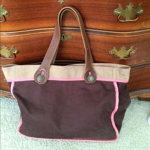 Gap leather & corduroy Tote bag.