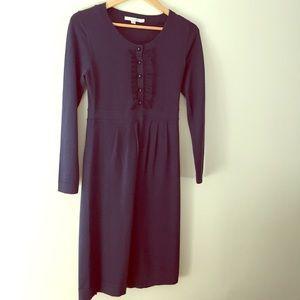 Boden long sleeve navy Knitted wool dress