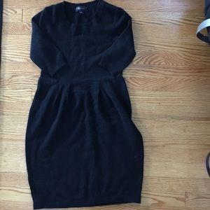Black sweater dress!