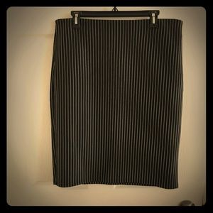 Pinstriped pencil skirt plus size