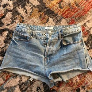 Vintage Light washed high waisted shorts