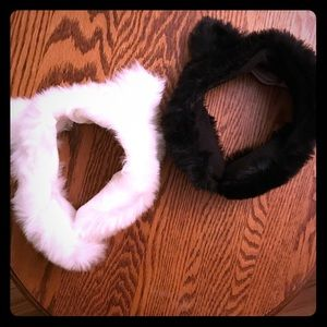 BCBG Faux Fur Cat Ear Headband Earmuffs