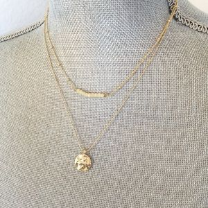 NEW NORDSTROM Layering Necklace Gold & Cream