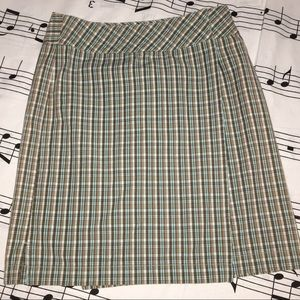 EUC Ann Taylor Loft Pencil Wrap Plaid Skirt