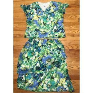 NWT Plus Size SERENGETI Print Skirt Set 🌟Sz 18🌟