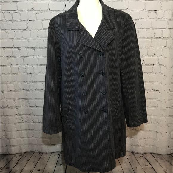13297caf029 J. Jill Jackets   Blazers - J JILL Double Breasted Pin Stripe Blazer jacket