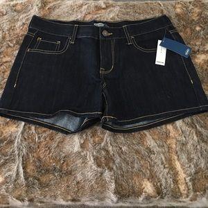 NWT Old Navy Dark Wash Diva Jean Shorts