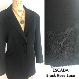Gorgeous ESCADA Blazer with Lace Applique