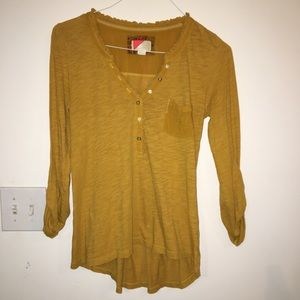Mustard Yellow Anthropologie top, Small