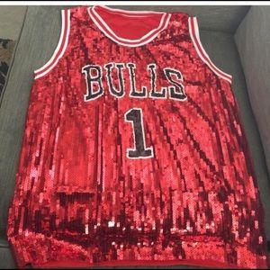 Tops - Bulls Sequin Jersey