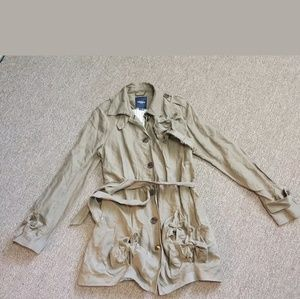 GRYPHON NEW YORK KNOT TRENCH COAT JACKET