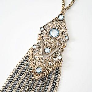 Express Art Deco style fringe necklace