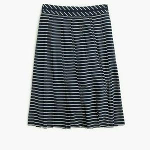 J. Crew Double Pleated Midi Skirt