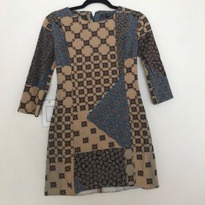 Zara mosaic print dress